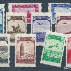 Sellos: R17/ MARRUECOS 186/95, MNH **, 1938, CATALOGO 17,50€, CON GOMA SIN CHARNELA. Lote 98641283