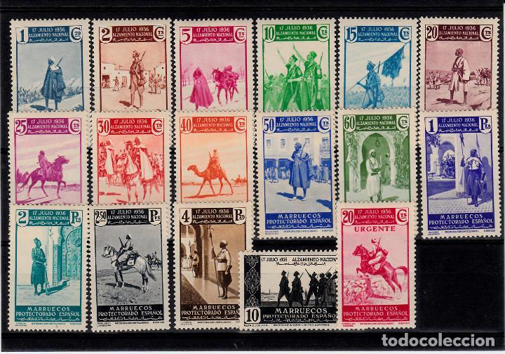 MARRUECOS NUMS. 169 A 185 SERIE COMPLETA NUEVOS CON FIJASELLOS (Sellos - España - Colonias Españolas y Dependencias - África - Marruecos)