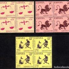 Sellos: FERNANDO POO: PRO INFANCIA ZODIACO 1968 EDIFIL 265-267 BLOQUE DE 4 - NUEVO** MNH. Lote 100325539