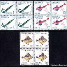 Sellos: IFNI: DIA DEL SELLO 1967 PECES EDIFIL 230-232 BLOQUE DE 4 - NUEVO** MNH. Lote 100326507