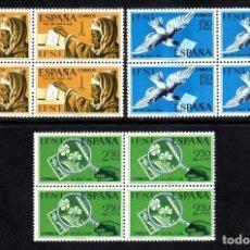 Sellos: IFNI: DIA DEL SRELLO 1968 CORREO EDIFIL 236-238 BLOQUE DE 4 - NUEVO** MNH. Lote 100360531