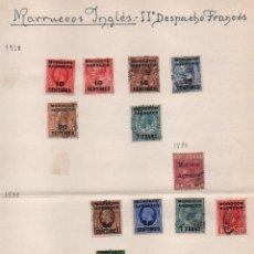 Sellos: MARRUECOS INGLES- II DESPACHO FRANCES. AÑOS, 1898-1918 -1935, 13 SELLOS, VER FOTOS. Lote 100914915