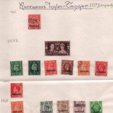 Sellos: MARRUECOS INGLES- II DESPACHO TANGER. AÑOS, 1927 -1937-1938-1949-1951-1952- 29 SELLOS, VER FOTO. Lote 100916079