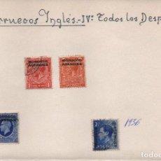 Sellos: MARRUECOS INGLES- IV DESPACHO1914 - 1935 - 1936,, 4 SELLOS,. Lote 100916543