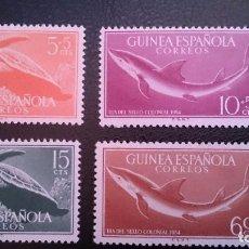 Sellos: GUINEA - 1954 - EDIFIL 338/341 MNH ** (SERIE COMPLETA) DIA DEL SELLO COLONIAL.NUEVOS SIN SEÑAL DE FI. Lote 101142411