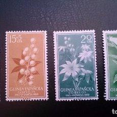 Sellos: GUINEA - 1959 - EDIFIL 391/394 MNH** (SERIE COMPLETA) PRO INFANCIA FLORA - NUEVOS SIN SEÑAL DE FIJAS. Lote 101145187