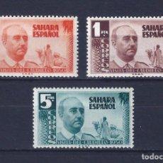 Sellos: EDIFIL 88-90. SAHARA. VISITA DEL GENERAL FRANCO (SERIE COMPLETA). MH *. Lote 102739967