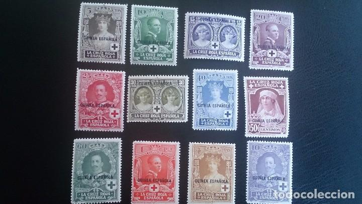 1926 - EXCOLONIAS - GUINEA - EDIFIL 179/190 - MH* - PRO CRUZ ROJA ESPAÑOLA. (Sellos - España - Colonias Españolas y Dependencias - África - Guinea)
