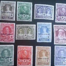 Sellos: 1926 - EXCOLONIAS - GUINEA - EDIFIL 179/190 - MH* - PRO CRUZ ROJA ESPAÑOLA.. Lote 103410203
