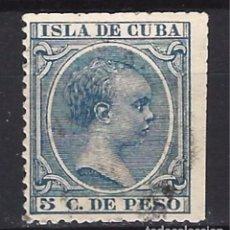 Sellos: ESPAÑA - CUBA - SELLO USADO CON DOS ESQUINAS SIN DENTAR. Lote 103974799