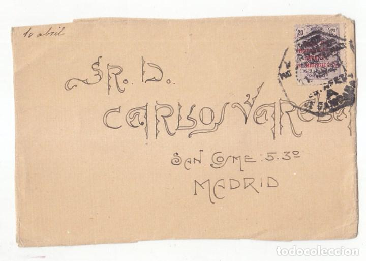 FRONTAL. MATASELLOS MARRUECOS. ESTAFETA DE CAMPAÑA. 1923. SELLO DEL MEDALLÓN SOBRECARGADO. RARO (Sellos - España - Colonias Españolas y Dependencias - África - Marruecos)