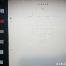 Sellos: ANTIGUAS HOJAS DE SELLOS SAHARA . 1924 A 1966 ( 20 IMÁGENES). Lote 104225475