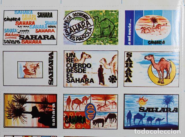 Sellos: PLIEGO HOJA CON 30 VIÑETAS SAHARA ESPAÑOL 1973 ¿RECUERDO JURA BANDERA MILI? 19 X 31CM VIÑETA AAIUN - Foto 3 - 104715215