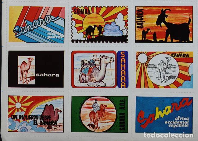 Sellos: PLIEGO HOJA CON 30 VIÑETAS SAHARA ESPAÑOL 1973 ¿RECUERDO JURA BANDERA MILI? 19 X 31CM VIÑETA AAIUN - Foto 5 - 104715279