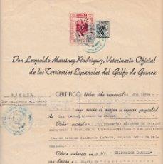 Sellos: SANTA ISABEL DE FERNANDO POO GUINEA ESPAÑOLA 1952. SELLOS FISCALES 7º 3 PTAS, ESPECIAL MOVIL 5 CTS.. Lote 105877134