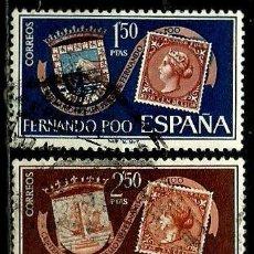 Sellos: FERNANDO POO 1968 EDI 263-64 (USADOS). Lote 106100819