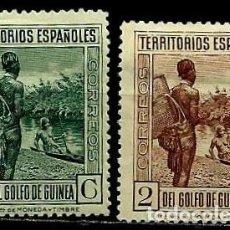 Sellos: GUINEA 1931 EDI 202-203 NUEVOS CON CHARNELA. Lote 106508743