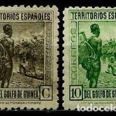 Sellos: GUINEA 1934 EDI 246-247 NUEVOS SIN GOMA Y CON CHARNELA. Lote 106511847
