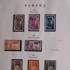 Sellos: ESPAÑA - LOTE DE SAHARA - EDIFIL 83/5, 88/9, 91/6, 98/188 (160/8), 190/200 Y 209/44 - 1950 A 1965. Lote 107799227