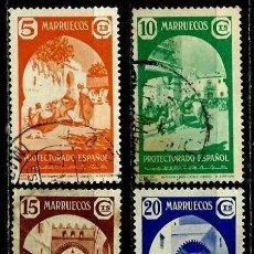 Sellos: MARRUECOS 1939 EDI 196/99 TIPOS DIVERSOS (USADOS). Lote 107858347