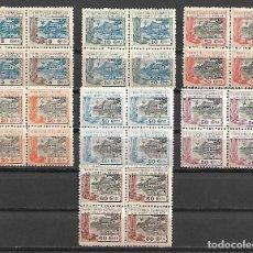 Sellos: GUINEA ESPAÑOLA SERIE CORTA 1924 EN BLOQUE DE CUATRO NUEVA PERFECTA CON GOMA ORIGINAL SIN CHARNELA. Lote 108735143