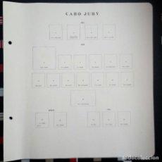 Sellos: HOJAS ALBUM CABO JUBY COMPLETA. (11 IMÁGENES). Lote 109284691