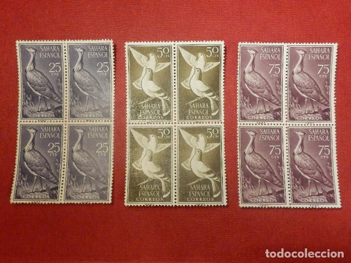 Sellos: SELLO - ESPAÑA - SAHARA - EDIFIL 180, 181, 182, 183, 184, 185, 186, 187, 188- 1961 SERIE BLOQUE DE 4 - Foto 2 - 109394287