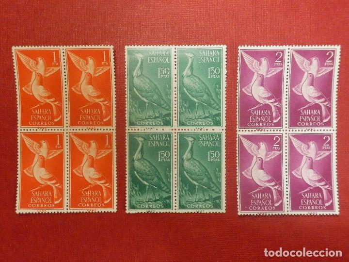 Sellos: SELLO - ESPAÑA - SAHARA - EDIFIL 180, 181, 182, 183, 184, 185, 186, 187, 188- 1961 SERIE BLOQUE DE 4 - Foto 3 - 109394287