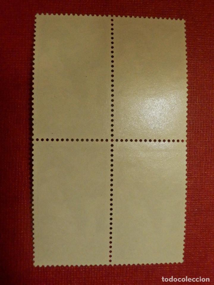 Sellos: SELLO - ESPAÑA - SAHARA - EDIFIL 189 - INDÍGENA Y AVION EN VUELO - 25 PTAS - 1961 -SERIE BLOQUE DE 4 - Foto 2 - 109394487