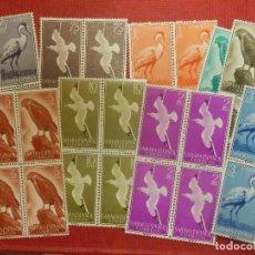 Sellos: SELLO - ESPAÑA - SAHARA - EDIFIL 160, 161, 162, 163, 164, 165, 166, 167,168- 1959 -SERIE BLOQUE DE 4. Lote 109394783