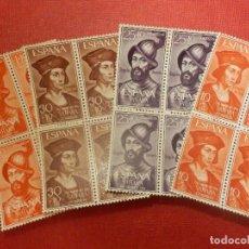 Sellos: SELLO - ESPAÑA - SAHARA - EDIFIL 197, 198, 199 Y 200 - DIA DEL SELLO - 1961 - SERIE EN BLOQUE DE 4 -. Lote 109400875