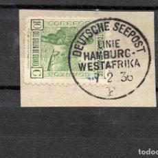 Sellos: GUINEA Nº 205.- AÑO 1936- MATASELLO MARÍTIMO ALEMÁN. Lote 109528051