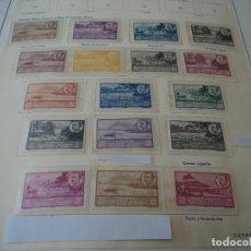 Sellos: GUINEA 1950/51 ED 277/292 17 VALORES VISTAS Y EFIGIE DE FRANCO NUEVOS RESTOS CHARNELA VER FOTOS. Lote 110023683