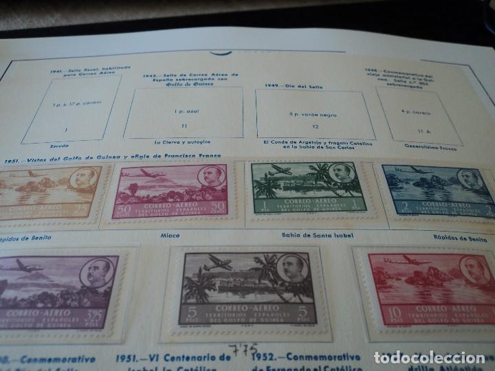 GUINEA ESPAÑOLA 1951 (298-305) AVION, PAISAJE Y FRANCO NUEVO SEÑAL DE CHARNELA (Sellos - España - Colonias Españolas y Dependencias - África - Guinea)