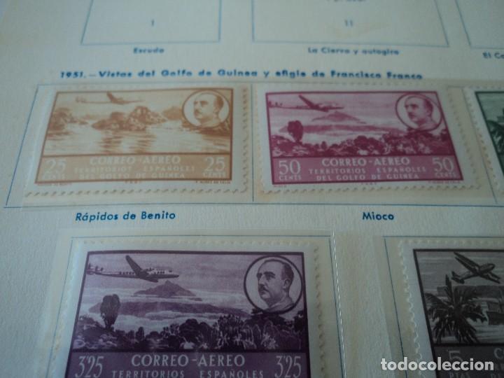 Sellos: GUINEA ESPAÑOLA 1951 (298-305) AVION, PAISAJE Y FRANCO NUEVO SEÑAL DE CHARNELA - Foto 3 - 110030407