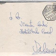 Sellos: SAHARA.1964- SOBRE CON SELLO MUTUALIDAD POSTAL. MATASELLO HEXAGONAL DE EL AAIUN DE CORREO AÉREO. Lote 110192031