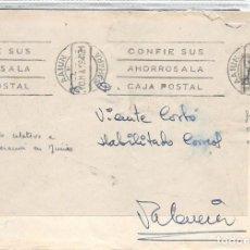 Timbres: SAHARA. 1964.- AAIUN/VALENCIA.- CARTA EN FRANQUICIA POSTAL. RARO USO ESTOS SELLOS EN SAHARA. . Lote 110195215