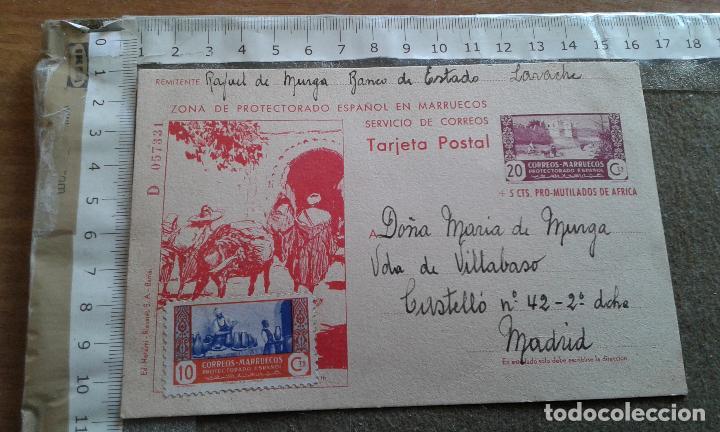 MARRUECOS ESPAÑOL EDIFIL 53 - ENTERO POSTAL SALIDA DESDE LARACHE A MADRID - NO LLEGO A CIRCULAR (Sellos - España - Colonias Españolas y Dependencias - África - Marruecos)