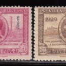 Sellos: SAHARA , 1929 EDIFIL Nº 34 , 35 / ** / , EXPOSICIÓN DE SEVILLA . Lote 111644835