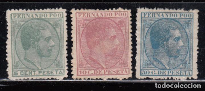 FERNANDO POO , 1879 EDIFIL Nº 2 / 4 ( * ) (Sellos - España - Colonias Españolas y Dependencias - África - Fernando Poo)