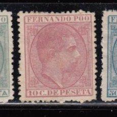 Sellos: FERNANDO POO , 1879 EDIFIL Nº 2 / 4 ( * ). Lote 111645927
