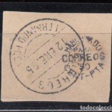 Sellos: FERNANDO POO 1884 - 1894 HABILITACIÓN SOBRE FRAGMENTO , 50 CTS COLOR NEGRO. Lote 111646279