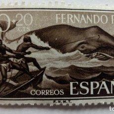 Sellos: SELLO 50+ 20 CTS - FERNANDO POO, DIA DEL SELLO 1960. Lote 111821323