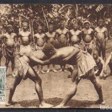 Sellos: FERNANDO POO - GUINEA - DEPORTIVISMO INDIGENA COMO LA LUCHA CANARIA - AÑO 1929 - RARA. Lote 112126471