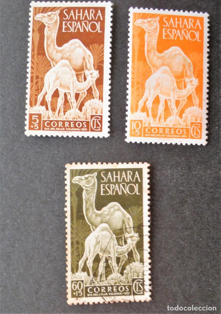 SERIE COMPLETA 1951 SÁHARA DÍA DEL SELLO DROMEDARIOS (Sellos - España - Colonias Españolas y Dependencias - África - Sahara)
