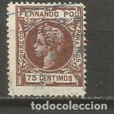 Sellos: SELLO FERNANDO POO ALFONSO XIII EDIFIL NUM. 145 USADO. Lote 113382791