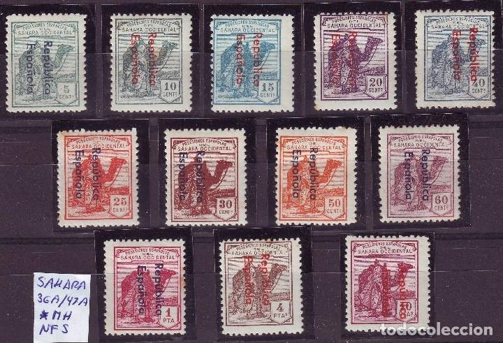 SAHARA . DROMEDARIOS. 36 A/47 A *MH. CON CHARNELA. (Sellos - España - Colonias Españolas y Dependencias - África - Sahara)