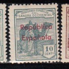 Sellos: SAHARA , 1932 EDIFIL Nº 36B, 37B, 41B, / * / . Lote 116125387