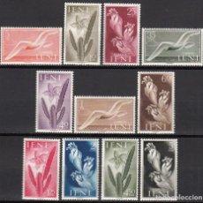 Sellos: IFNI , 1954 EDIFIL Nº 103 / 113 / * / , FLORA Y FAUNA . Lote 116273147