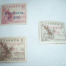 Sellos: TRES SELLOS TERRITORIO DE IFNI. Lote 116481711